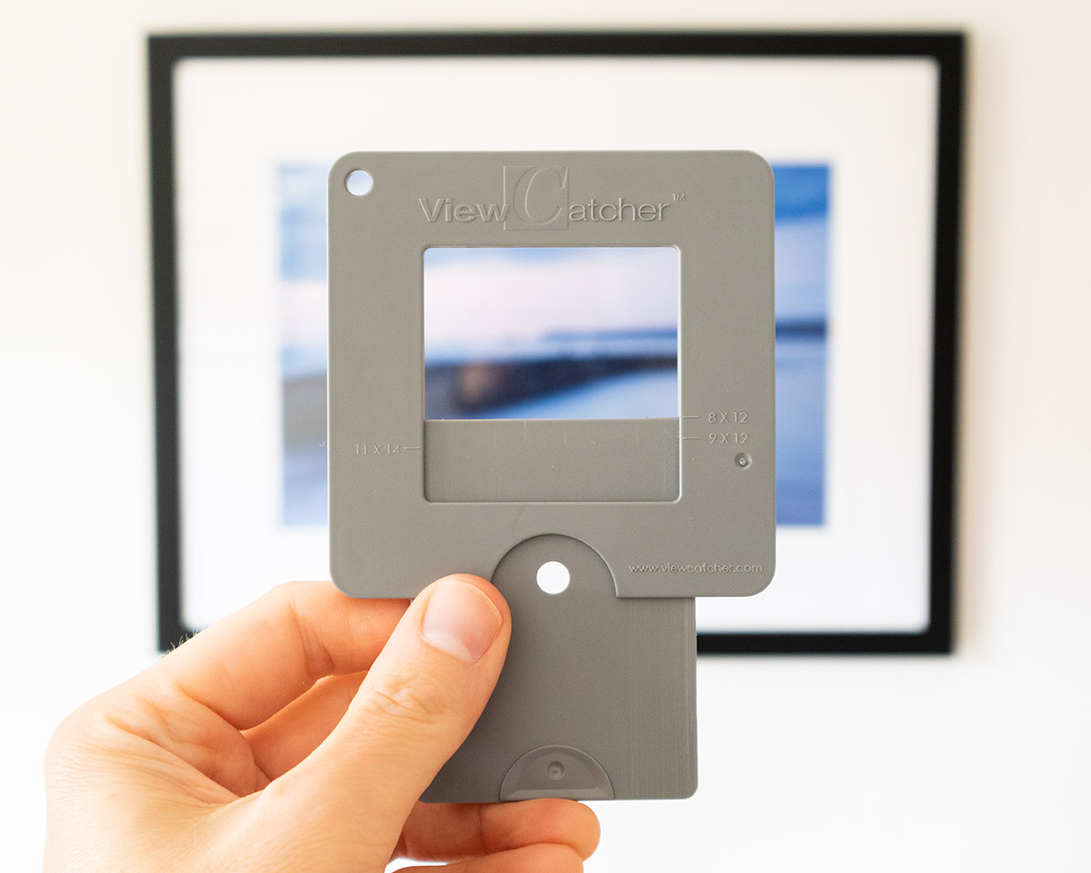 The Viewcatcher is a small plastic viewfinder.