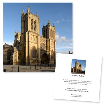 'Bristol Cathedral' large greeting card