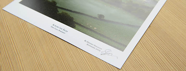 An example photographic print made on semi-gloss Hahnemühle paper.