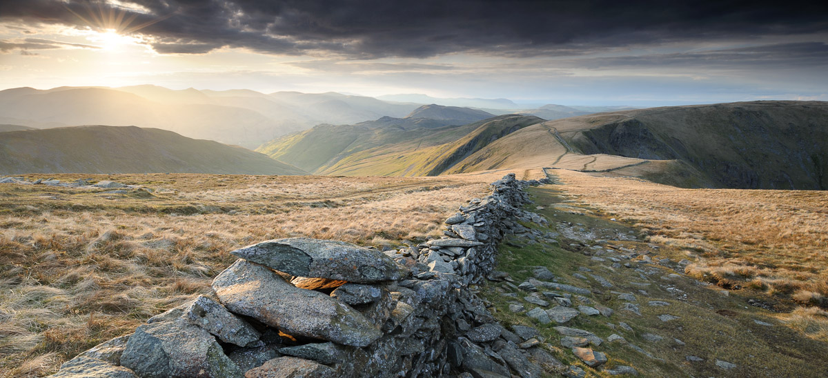 Dramatic view of the Straits of Riggindale and surrounding fells in the Lake District, UK. Image © Stephen Spraggon.