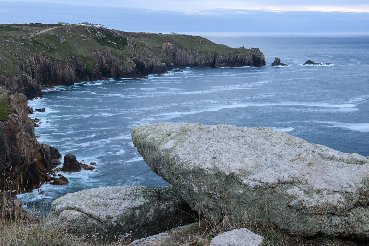 Coastal view from Pedn-men-du to Land's End, Cornwall. Image © Stephen Spraggon.