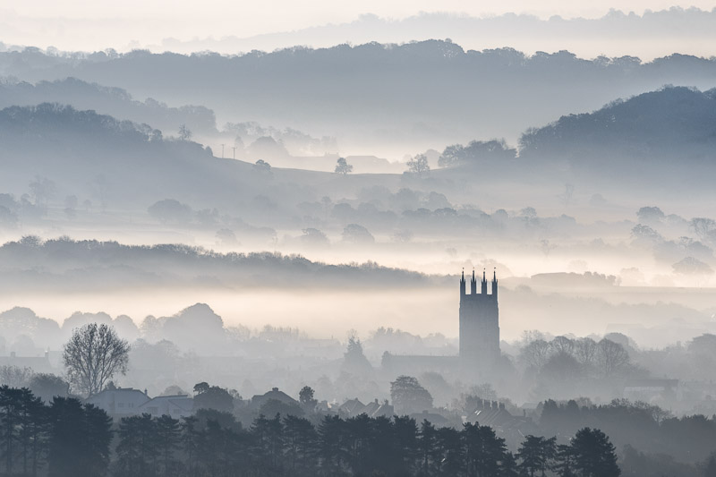 St Cuthbert's in the Mist